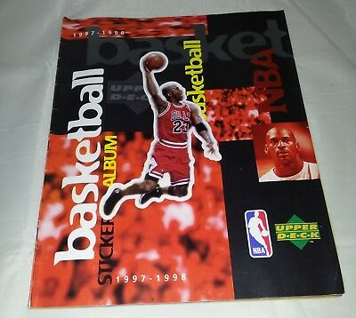 NBA Basketball 97-98 Sticker Album : 100% Complete. 97% Complete Stickers