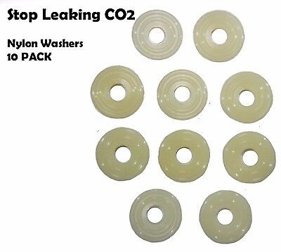 10 Pack Nylon CO2 Regulator Replacement  Nut Washer Kegerator Draft beer-763d-10 Draft Beer Regulator