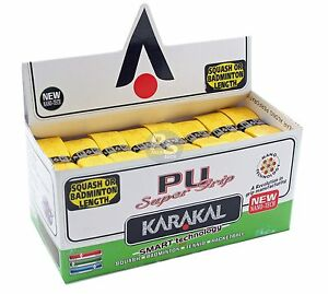 Karakal-Super-PU-Replacement-Grips-Yellow-Tennis-Squash-Badminton