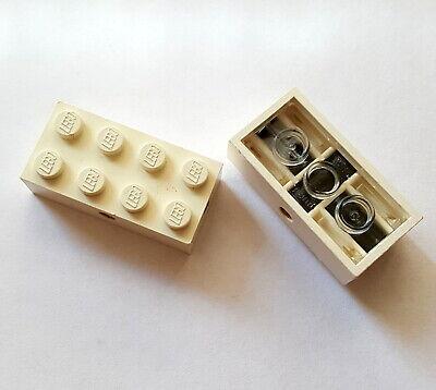 Lego Eisenbahn Rarität 1960-1970 Pat pend Achsstein 2x4 Weiß unten schwarz 29 A - Schwarz Pat 4