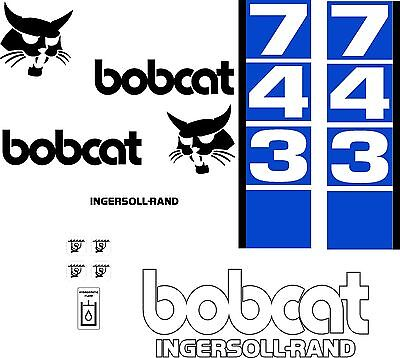 743 D Replacement Decals Decal Kit Sticker Set Skid Loader Steer Fits Bobcat