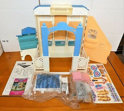 Barbie Doll Riding Stable PlaySet Mattel 1998 Accessories & Stickers Are New