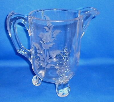 Early American Pattern Glass EAPG Grasshopper Creamer w/o Insect for sale  Shipping to Canada