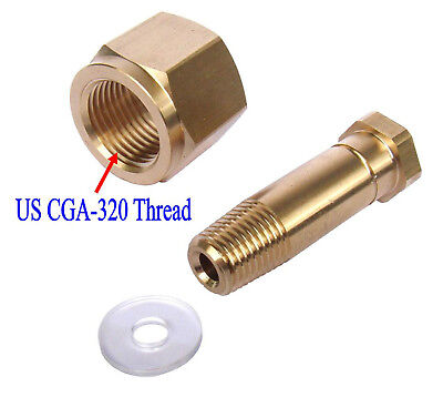Cga 320 Co2 Carbon Dioxide Regulator Inlet Nut Nipple With Washer