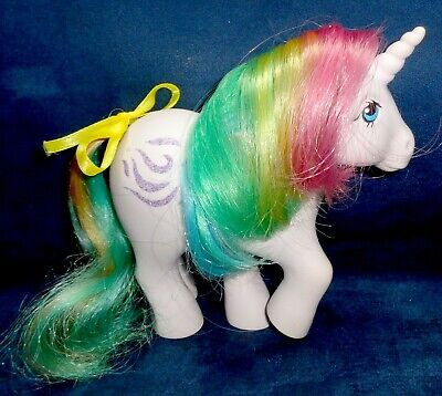 Rose: My Little Pony Vintage Rainbow Unicorn Windy #5 EXCELLENT glittery G1