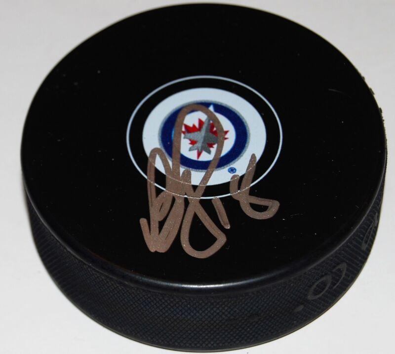 BRYAN LITTLE signed (WINNIPEG JETS) autographed souvenir hockey puck W/COA