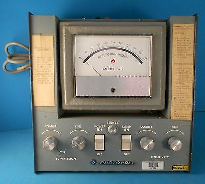 Photovolt Model 670 Reflection Meter Vintage Electrical Test Equipment