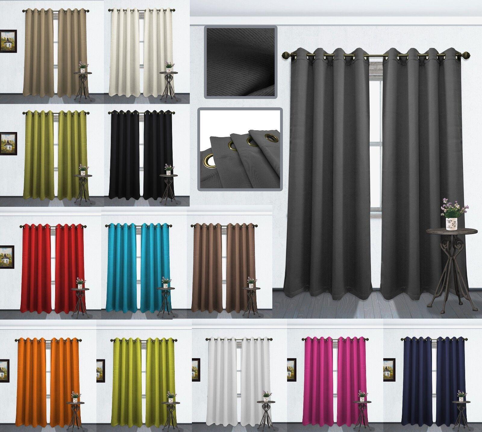 "Blackout Window Curtain Panel 1Pc Tessa 54""x84"" Grommet Soli"