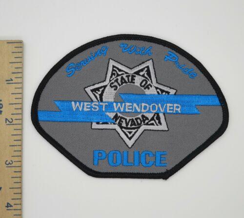 WEST WENDOVER NEVADA POLICE PATCH Vintage Original