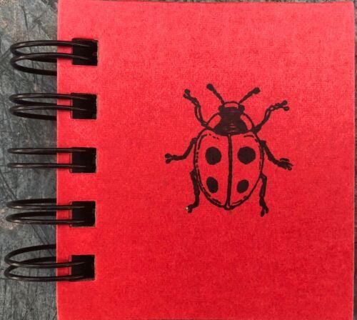 """LADYBUG Wirebound STICKY NOTE BOOK 200 Sheets/Pocket/Purse 3.5""""x3""""x0.75"""" L@@K!"""