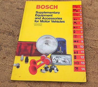 Genuine Bosch Equipment Accessories Parts List Catalogue Book 1982 Classic