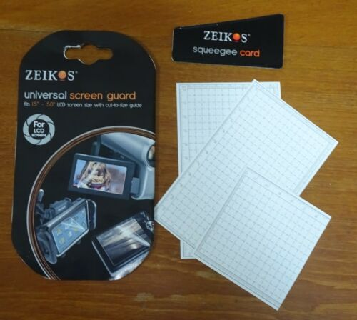 """Zeikos Universal Screen Guard – fits 1.5"""" to 5"""" LCD Screen Size"""