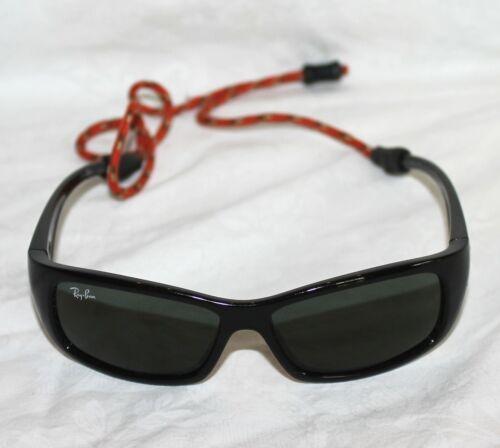 Ray Ban RJ9046S Junior Sunglasses, Black Frame/Green Lens Made in Italy Kids EUC