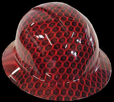 Hard Hat Full Brim Red Hex w/ Free BRB Customs T-Shirt