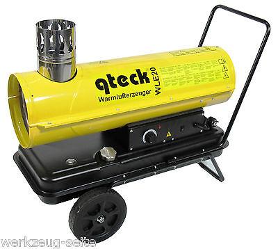 indirekte Dieselheizung Warmlufterzeuger Heizkanone Bauheizer Oil Heater 20 kW