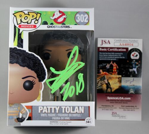 LESLIE JONES SIGNED PATTY TOLAN GHOSTBUSTERS FUNKO POP FIGURE AUTOGRAPH JSA COA