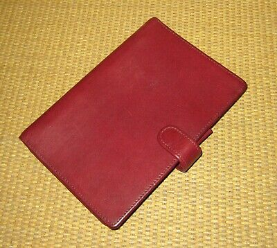 Pocket Franklin Coveyquest Burgundy Leather .66 Rings Open Plannerbinder