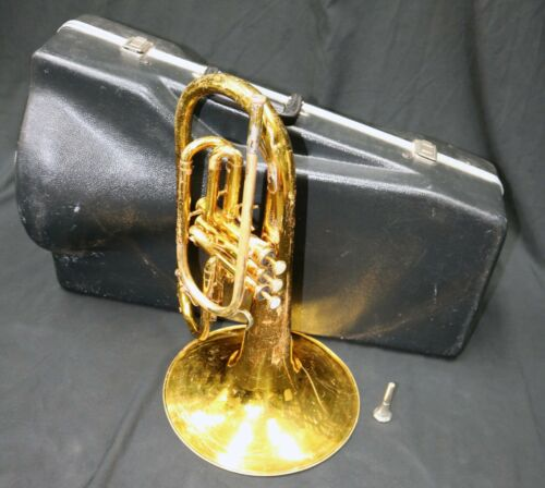 King 1120 Marching Mellophone (Key Of F) Rough Lacquer Finish But Plays Great