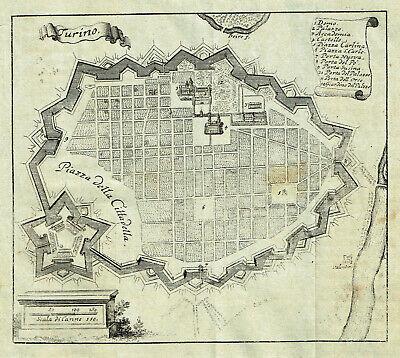 Cartina Militare Piemonte.Antica Mappa Topografica Vatican