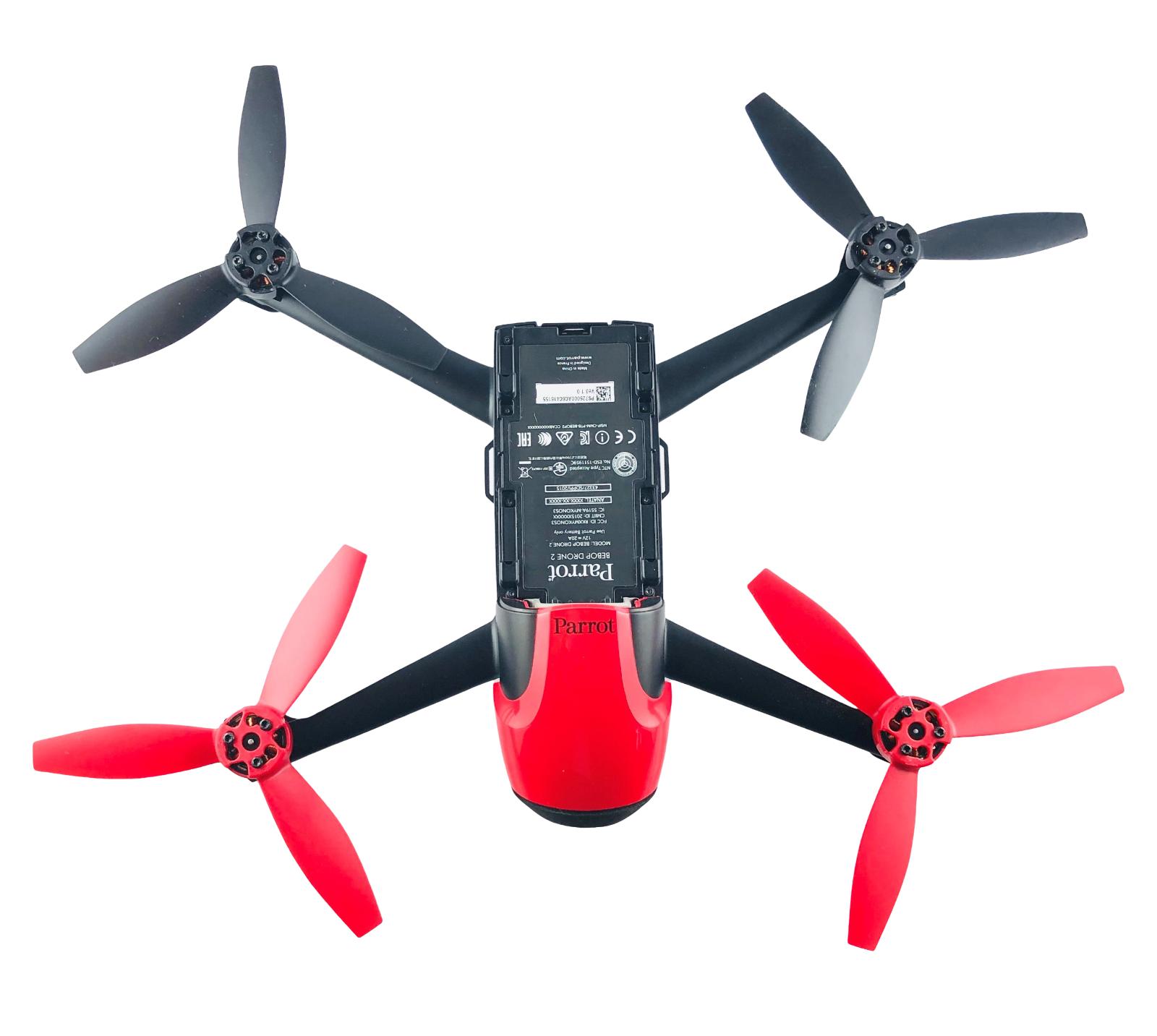 Parrot Bebop 2 Drohne Quadrokopter Drone 1080p Rot