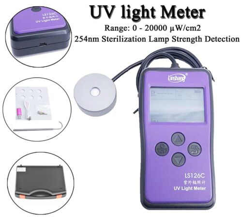UV Light Meter UVC Ultraviolet Intensity Tester Bluetooth UV Radiometer LS126C