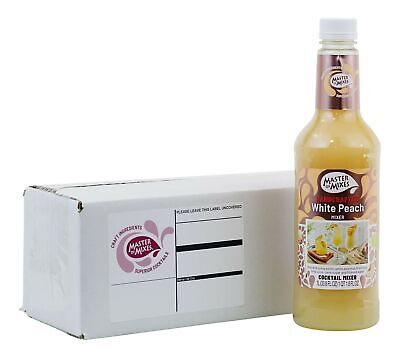 Master Of Mixes White Peach Daiquiri Margarita Drink Mix Ready To Use 1 L...