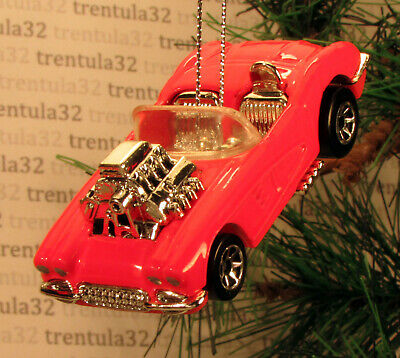 '58 CHEVY CORVETTE 1958 CHEVROLET PINK CHRISTMAS TREE ORNAMENT XMAS ()