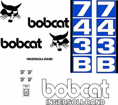 743b D Replacement Decals Decal Kit Sticker Set Skid Loader Steer Fits Bobcat