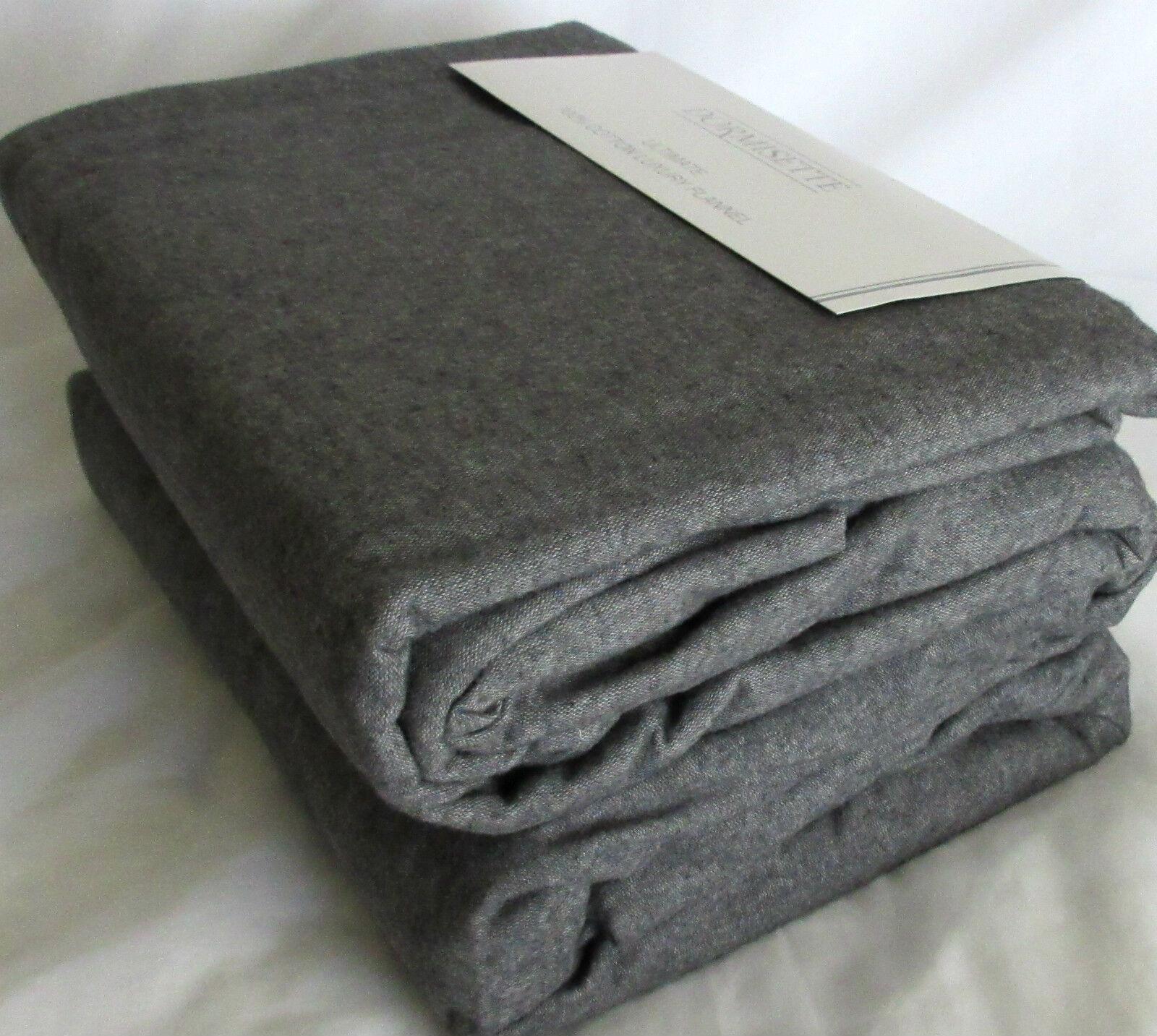 Gray QUEEN or KING DUVET Cover Set Flannel THE BEST: Dormise