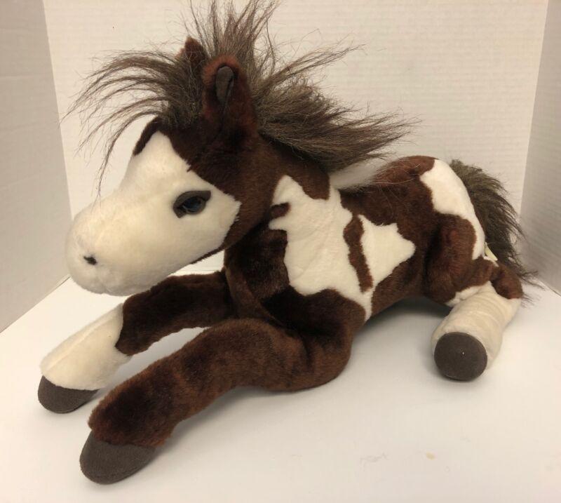 "Breyer Brown White HORSE 18"" Plush Paint Pinto Stuffed Animal"