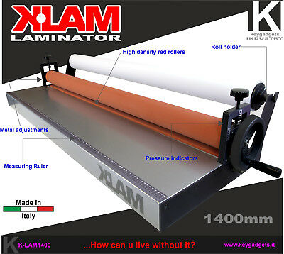 Cold Laminator 55.1 1400mm Laminating Machine Roll Mount Photo Poster