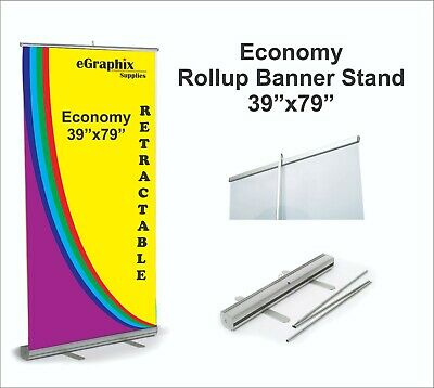 Retractable Rollup Banner Stand Display 39 X 79 W Free Shipping