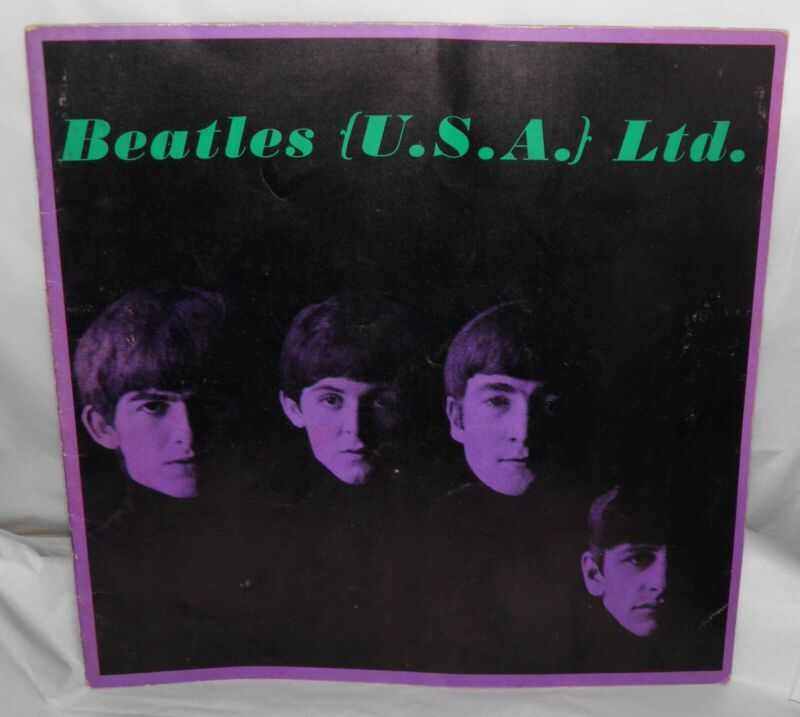 Vintage Authentic Original BEATLES 1964 USA LTD TOUR PROGRAM BOOK