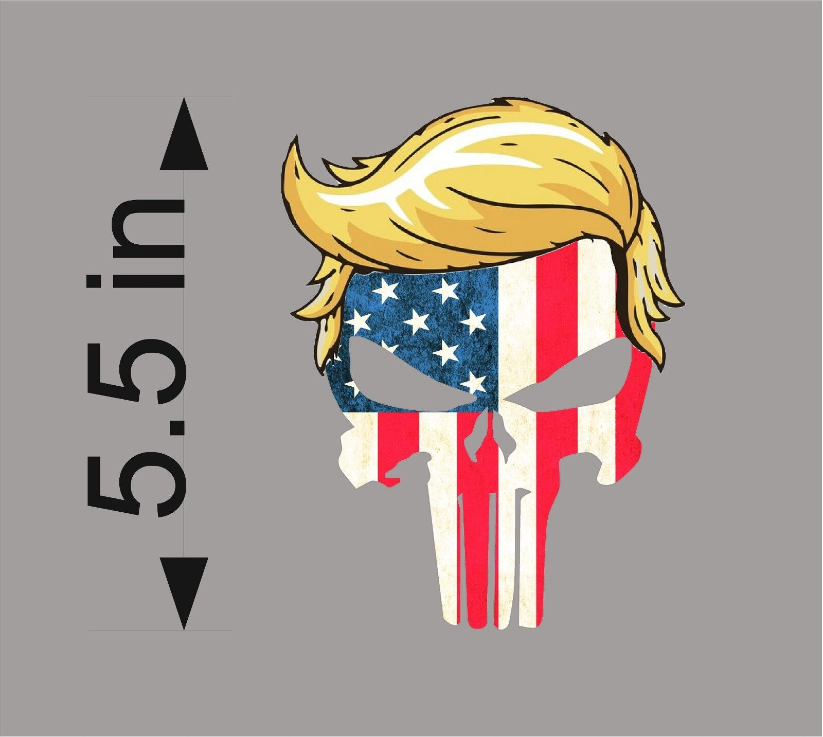 Home Decoration - TRUMP PUNISHER USA with hair window decal bumper sticker funny pro USA NRA 2A