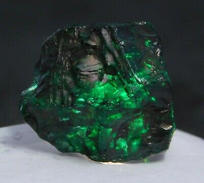 Natural Certified Uncut 63.80 Ct Colombia Emerald Dyed Rough Loose Gemstone