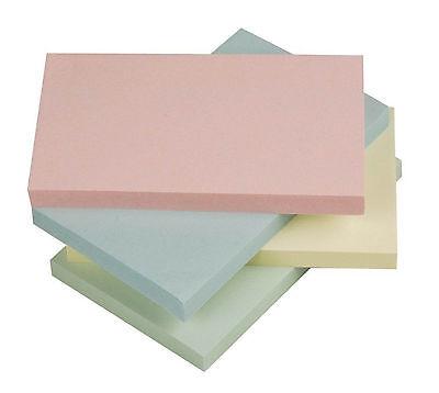 12 x Q-CONNECT KF01349 Haftnotizen Quick Notes - Pastellfarben, 125 x 75 mm