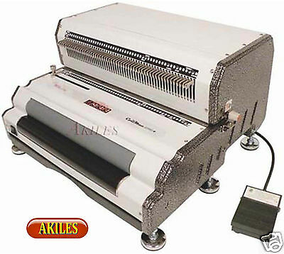 Akiles Coilmac-epi Electric Coil Binding Machine Punch Inserter New