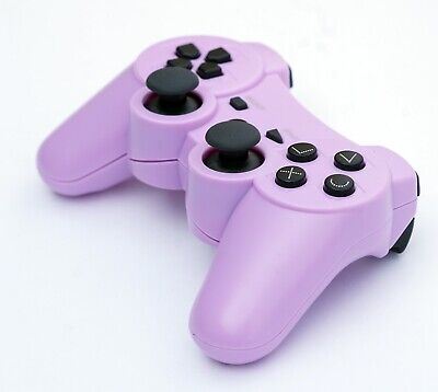 Wireless Remote PS3 Controller Gamepad for use with PlayStation3 Purple, used for sale  Shipping to Nigeria