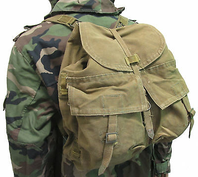 Czech M60 Backpack with Straps - Khaki - Used European Military Surplus