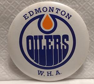 Vintage Edmonton Oilers W.H.A. Pinback Button/Badge