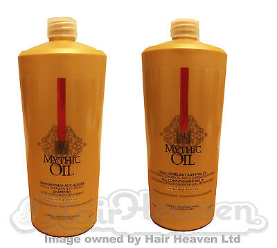 LOreal NEW Mythic Oil Shampoo and Conditioner 1000 ml  DUO Pack for Thick Hair