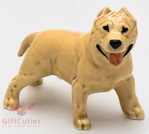 Porcelain Figurine of the American Staffordshire Bull Terrier Dog