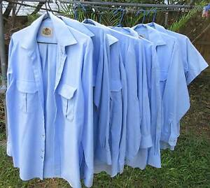 Can't Tear Em size M Blue Cotton Chambray Mens Work Shirts Sandgate Brisbane North East Preview