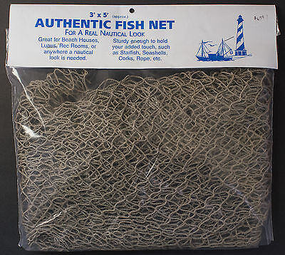 Authentic fish netting net 3 feet by 5 feet greenish color clean sturdy - Colored Fish Netting
