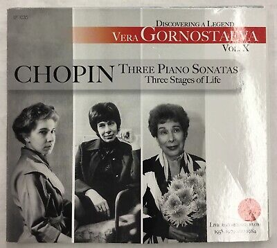 Three Piano Sonatas (Vera Gornostaeva Chopin Three Piano Sonatas Vol.X Live Recordings Used )
