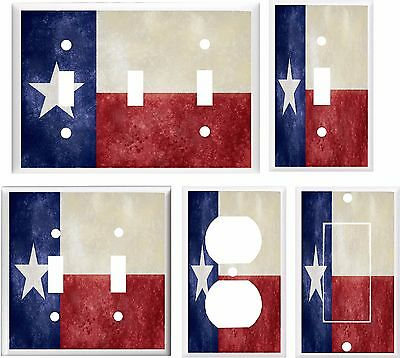 Flag Switch (TEXAS STATE FLAG LIGHT SWITCH COVER PLATE     U PICK PLATE SIZE )