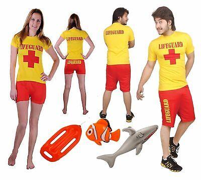 New Miami Beach Men Women Lifeguard Fancy Dress Costume Baywatch Rescue Stag - Kostüm Miami