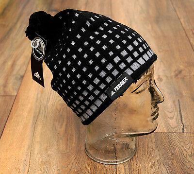 2cfff0703747 adidas Olympic Terrex Beanie Mütze schwarz-grau Pudelmütze OSFM Wintermütze  NEU