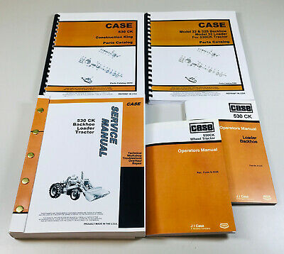 Case 530ck Tractor Loader Backhoe Service Parts Operators Manual Catalog Oh Set