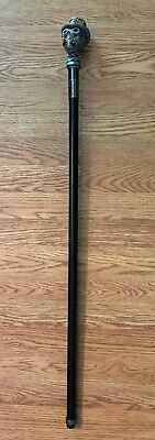 STEAM PUNK METAL WALKING CANE WITH HAT HALLOWEEN PROP COSPLAY LIFE SIZE